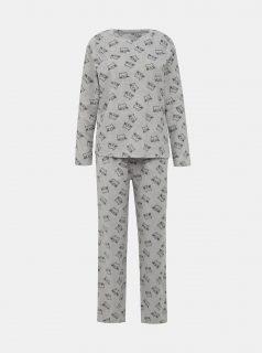 Šedé vzorované dvoudílné pyžamo M&Co