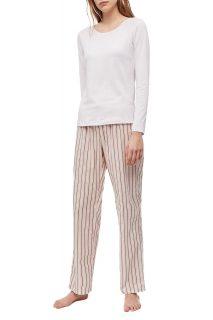 Calvin Klein růžové dámské pyžamo L/S Pant Set
