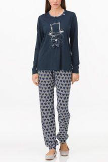 Dámské pyžamo 11024 – Vamp tm.modrá