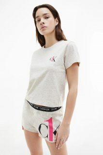 Calvin Klein béžové pyžamo S/S Short set
