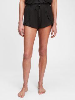 Černé dámské pyžamo vé kraťasy adult truesleep tulip pj shorts in tencel modal GAP