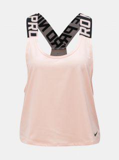 Meruňkové dámské krátké funkční tílko Nike Pro Intertwist
