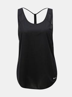 Černé dámské strukturované tílko Nike Breathe Strappy