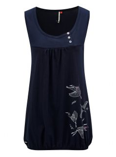 Tmavě modré dámské tílko s potiskem Ragwear Giselle B
