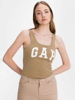 Béžové dámské tílko GAP Logo tank, 2ks