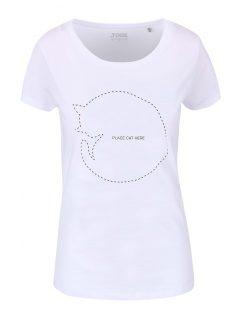 Bílé dámské tričko ZOOT Originál Place Cat Here