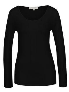 Černé basic tričko s dlouhým rukávem Selected Femme Mio