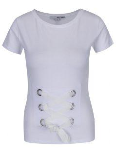 Bílé tričko se šněrováním TALLY WEiJL