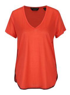 Červené tričko s pruhem na bocích Scotch & Soda