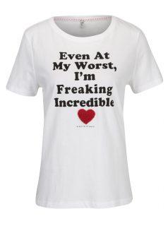 Bílé tričko s nápisem ONLY Kita