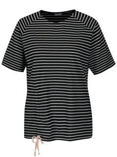 Černé pruhované tričko Jacqueline de Yong Buzz