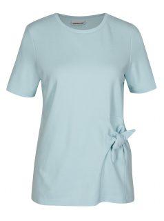Světle modré tričko s uzlem Noisy May Lock
