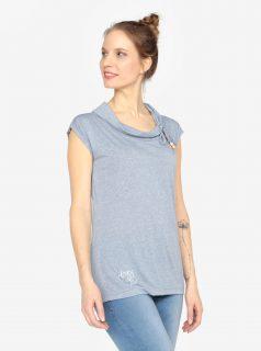 Modré tričko s krátkým rukávem Ragwear Lorna