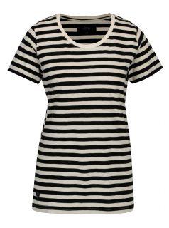 Černo-krémové dámské pruhované tričko Makia