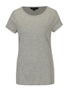 Šedé žíhané tričko s krátkým rukávem Dorothy Perkins