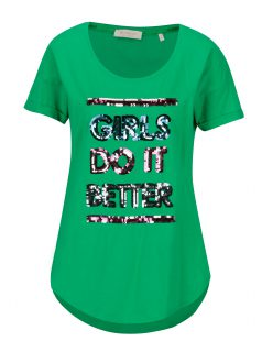 Zelené tričko s flitry Rich & Royal