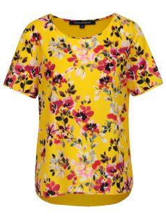 Žluté květované volné tričko French Connection Linosa