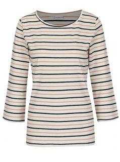 Růžovo-krémové pruhované tričko Jacqueline de Yong Charm