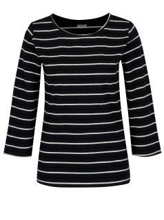 Krémovo-modré pruhované tričko Jacqueline de Yong Charm