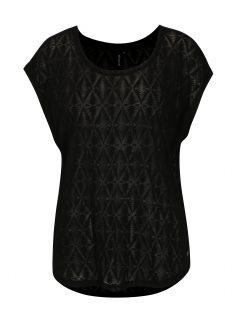 Černé dámské průsvitné tričko s aztéckým vzorem Rip Curl