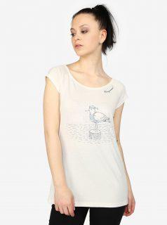 Krémové dámské tričko s potiskem Ragwear Sofia