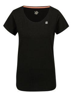 Černé dámské tričko s krátkým rukávem LOAP Blair