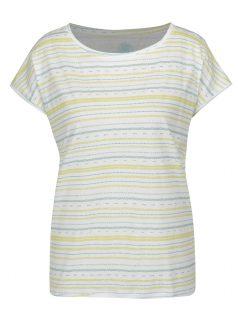 Bílé dámské vzorované tričko LOAP Alia