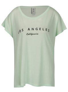 Světle zelené oversize tričko s potiskem Blendshe Mandy