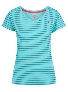 Modré dámské pruhované tričko LOAP Basha