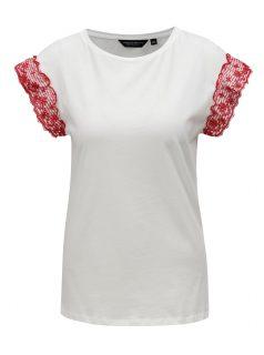 Bílé tričko s volány na rukávech Dorothy Perkins