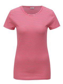 Růžové pruhované tričko Jacqueline de Yong Christine