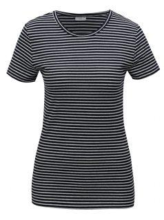 Tmavě modré pruhované tričko Jacqueline de Yong Christine