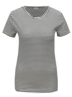 Černo-bílé pruhované tričko Jacqueline de Yong Christine