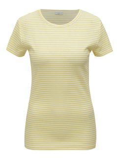 Bílo-žluté pruhované tričko Jacqueline de Yong Christine