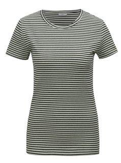 Světle zelené pruhované tričko Jacqueline de Yong Christine