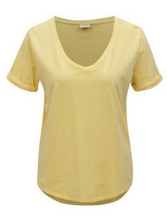 Žluté oversize tričko Jacqueline de Yong Darry