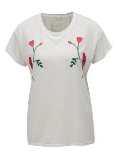 Krémové tričko s potiskem Jacqueline de Yong Nixon