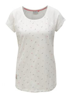 Bílé tričko s motivem kotev Brakeburn