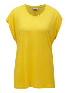 Žluté oversize tričko Noisy May Mila