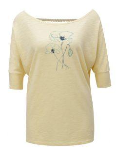 Světle žluté dámské tričko s výstřihem na zádech BUSHMAN Sanlanta