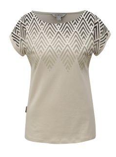 Béžové dámské tričko s potiskem BUSHMAN Cala