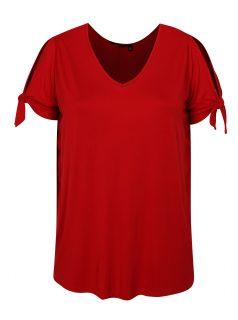 Červené tričko s krátkým rukávem Dorothy Perkins Curve