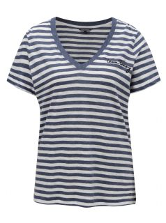 Bílo-modré dámské pruhované tričko Tommy Hilfiger