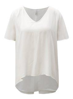 Bílé tričko s překládanou zadní částí Blendshe jamiro