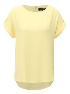 Žluté tričko se zipem na zádech Dorothy Perkins