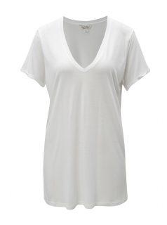 Bílé volné dlouhé tričko Miss Selfridge