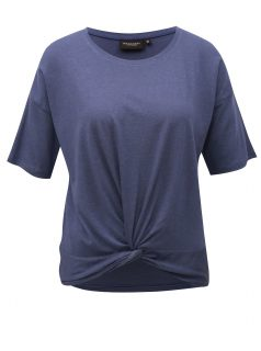 Modré dámské tričko s uzlem Broadway Dominique