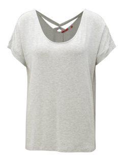 Světle šedé dámské oversize tričko s pásky na zádech s.Oliver