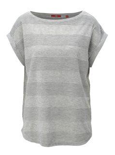 Šedé dámské volné tričko tričko s.Oliver