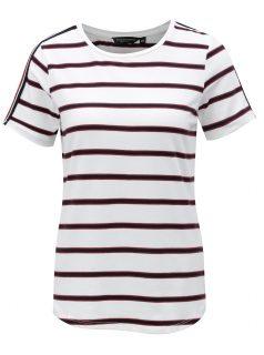 Krémové pruhované tričko Dorothy Perkins